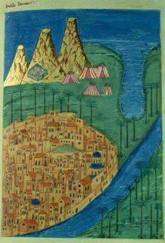 Mt. Sinai Peninsula. Illumination from a late medieval Georgian manuscript