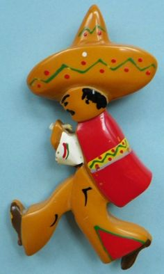 BAKELITE PIN - MEXICAN
