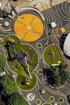 Public park and urban spaces - spielplatz, Landscape Design Plans, Landscape Architecture Design, Urban Landscape, House Landscape, Landscape Diagram, Classical Architecture, Ancient Architecture, Sustainable Architecture, Design D'espace Public