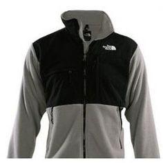 1e5075ea167a The North Face Men s Denali Polartec Fleece Jacket Silver Black TNF- The  North Face