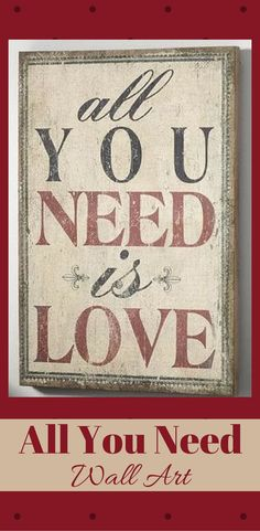 Hand painted in the style of a vintage billboard, this sign proclaims a message of love.#valentinesgift #ad