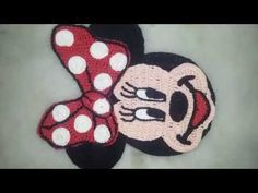 rosto da minnie ou mickey e crochê parte 1 - YouTube
