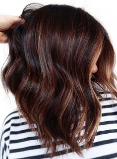 Amazing shades of chocolate brown hair colors for bold ladies with unique highlights in 2021. If you love to sport medium or long locks then we suggest you to see here these awesome trends of chocolate brown hair color ideas for hot hair looks in year 2021.