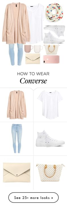 """""""100 Questions Part 1"""" by thesabriner on Polyvore featuring H&M, Kate Spade, Paige Denim, Converse, iittala and Louis Vuitton"""