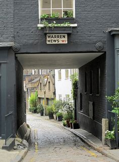 /\ /\ . Warren Mews, Fitzrovia, London