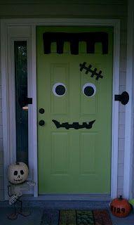 Ten23 Designs: {Holiday Decal Decor} Halloween Edition: Decal Door Decor
