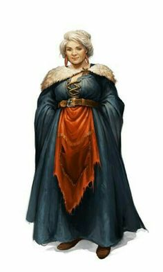 Old Female Witch - Pathfinder PFRPG DND D&D d20 fantasy