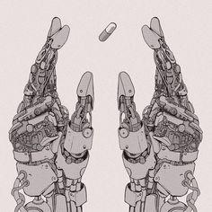 Good for Health via Cyberpunk Cyberpunk 2020, Arte Cyberpunk, Cyberpunk Aesthetic, Cyberpunk Anime, Illustrations, Illustration Art, Mechanical Art, Robot Concept Art, Futuristic Art