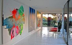 Decorate Using Abstract Paintings