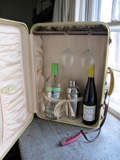 Suitcase mini bar | Repurposed | Pinterest | Corner bar, Bar and ...