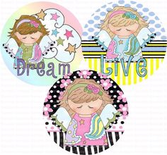 Dream Angels Bottle Cap Images 4x6 Bottlecap by designsbyPM
