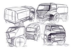 truck sketches by Swaroop Roy