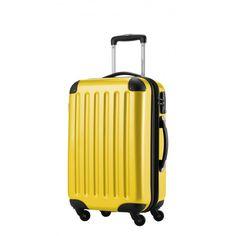 """Alex - Handgepäck Hartschale Gelb glänzend, 55 cm, 42 Liter; Gelber #Rollkoffer aus der Serie """"Alex"""" von #Hauptstadtkoffer.  #Hartschalenkoffer #Handgepäck #Cabinsize #Boardtrolley #Gelb #Rollkoffer #Trolley #Koffer #Travel #Luggage #Reisen #Urlaub #yellow => mehr Gelbe Koffer: https://hauptstadtkoffer.de/de/reisegepack/alle-produkte?color=134"""