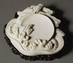 White glazed porcelain brush lick, Qing Dynasty 18thC
