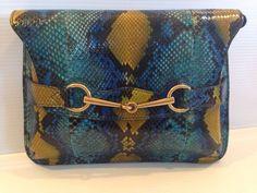 Gucci AUTHENTIC NWT Bright Bit Python Shoulder Bag #Gucci #ShoulderBag