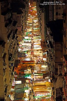 Temple Street in Hong Kong. One big night time street market. Travel Gift Cards, Hong Kong, Temple, Destination Voyage, Destinations, Travel Photos, Beautiful Places, Beautiful Scenery, Amazing Places