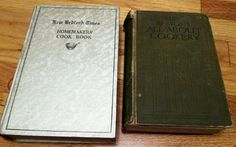 New Bedford Times Homemaker's Cook Book, 1930 & Mrs. Beeton's All About Cookery, 1923