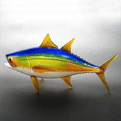 Glass yellowfin tuna by Michael Hopko.  Available at Light Opera