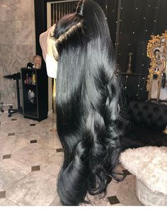 Click picture to buy this high quality wigs for black women lace front wigs human hair wigs - Hair Styles Wig Styles, Curly Hair Styles, Natural Hair Styles, High Quality Wigs, Hair Knot, Black Wig, Human Hair Lace Wigs, Cheap Human Hair Wigs, Wigs For Black Women
