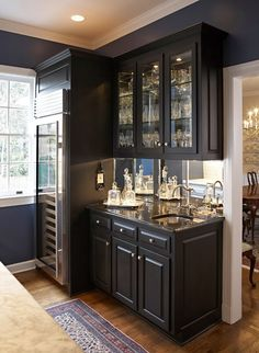 wet bar and wine fridge for the basement kitchen