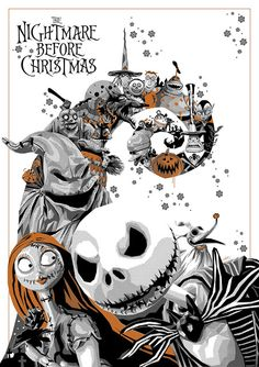 "thepostermovement: ""Nightmare Before Christmas von Simon Delart"" - TIM BURTON - Tim Burton Kunst, Tim Burton Art, Tim Burton Films, Burton Burton, Jack Skellington, Jack Et Sally, Nightmare Before Christmas Drawings, Art Halloween, Cartoons"