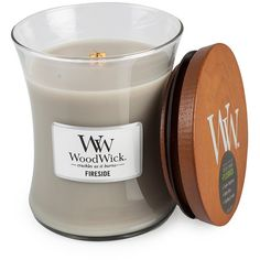 Woodwick Fireside Medium found on Polyvore