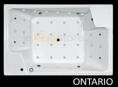 Baignoire Balnéo Ontario 190 x 125 cm 2 places - LeKingStore