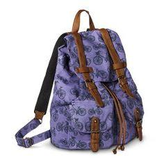 Mossimo Supply Co. Bicycle Print Backpack Handbag - Purple