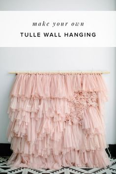 "Aug 15, 2018 - ""It looks so good!"" was what my humble self kept saying as I finished this tulle wall hanging. We had a totally different project for this, but after our mauve pink discovery, we had a make-it-work moment so we did just that. But before you gasp at the amount of tulle used, let me preface…"