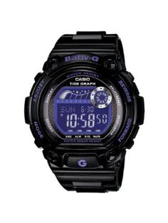 Casio Womens BLX100-1B Baby-G Shock Resistant Glide Black and Blue Multi-Function Watch