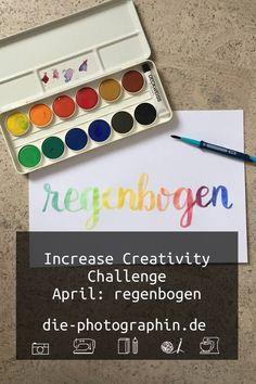 Mein Beitrag zur Increase Creativity Challenge im April zur Farbe regenbogen und den vier Elementen Feuer, Wasser, Luft und Erde.