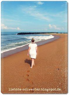 liebste schwester: Mit Kimono Tee Kleid am Strand unterwegs