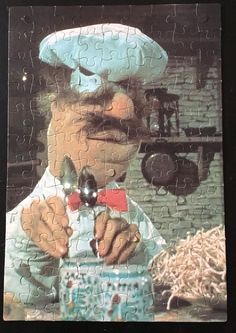 The Muppet Movie SWEDISH CHEF Vintage Jigsaw Puzzle 100 Pieces COMPLETE 1979…