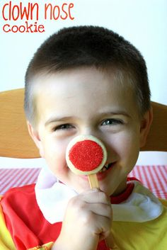 Ha!  Clown Nose Cookie for a Circus Themed Party! {Or Rudolph for Christmas}