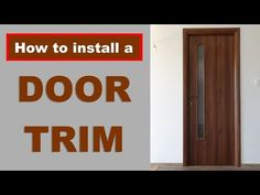 Thinking of starting a project around your host but you don't know if you have the skill for it. Then you better star whit a simple project. I just install n. Project Yourself, Make It Yourself, Door Trims, Asmr, Easy Projects, Doors, Day, Youtube, Door Coverings