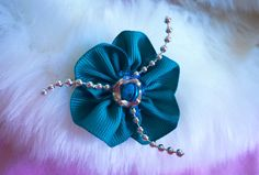 DIY: Make a Ribbon flower hair clip