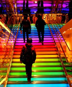 Stairs.   26 Things That Look Better Thanks To Rainbows