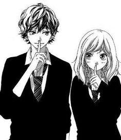 ao haru ride, anime, and manga image Couple Amour Anime, Couple Manga, Anime Love Couple, Manga Anime, Anime Chibi, Animé Romance, Anime Girlfriend, Ao Haru Ride Kou, Futaba Y Kou