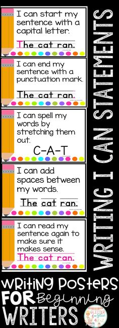 These posters are perfect to hang in your writing center for your little ones! I would recommend these be used in either a preschool, kindergarten, or first grade classroom! I've included a version with a black background and a printer-friendly version with a white background. Keywords: writing centers, kindergarten, first grade, anchor charts, chalk theme, neon, bright colors, bright classroom, classroom decor