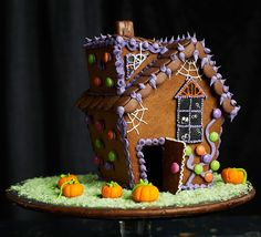 Gingerbread haunted house. Try your hand at this Halloween themed gingerbread house - don't worry about home-made wonkiness, it all adds to the creepy effect