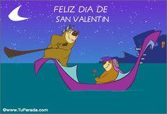Feliz Día de San Valentín en góndola. San Valentín, ver tarjetas ...