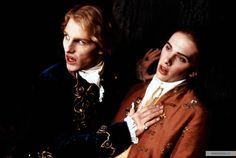Interview with the Vampire. Lestat with his victim.