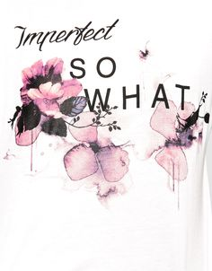 Maglietta Bershka stampa 'imperfect/shopping - T- Shirts - Bershka Italy