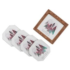 Gabi King Of Angels Coaster Set | DENY Designs Home Accessories #christmas #decor #holiday #gift #unique
