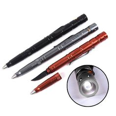 Multi-Tool Portable Tactical Pen With Knife LED Light For Self Defense Great in Sport, Camping & Outdoor, Werkzeug   eBay