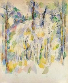 In the Woods, Paul Cezanne 1900 (watercolor)