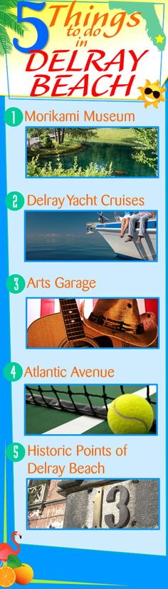 5 Things To Do In Delray Beach Florida! Delray Beach is a wonderful place to call home full of things to do. Morikami Museum & Japanese Gardens Delray Yacht Cruises Arts Garage Atlantic Avenue Historic Points of Delray Beach Delray Beach Florida, Florida Beaches, South Florida, Palm Beach County, West Palm Beach, Yacht Cruises, Jupiter Florida, Florida Style, Palm Beach Gardens