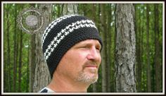 Free Houndstooth hat beanie pattern by ELK Studio - men's beanie crochet