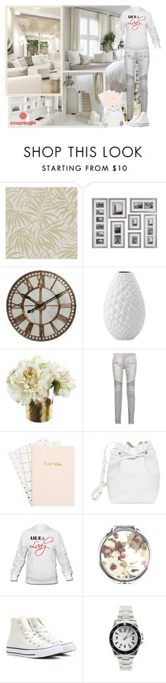 """Snapmade.com"" by asia-12 ❤ liked on Polyvore featuring Graham & Brown, Bombay, Balmain, Mansur Gavriel, Converse and snapmade"