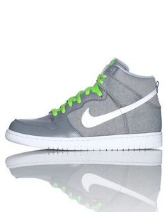 NIKE High top sneaker Front lace closure Padded tongue with brand logo Signature swoosh on sides Cushioned sole for ultimate comfort and performance